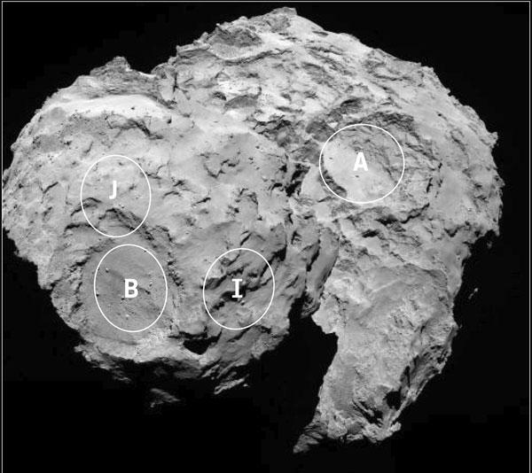 sites-67P-Philae