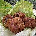 Boulettes ou polpette de champignons
