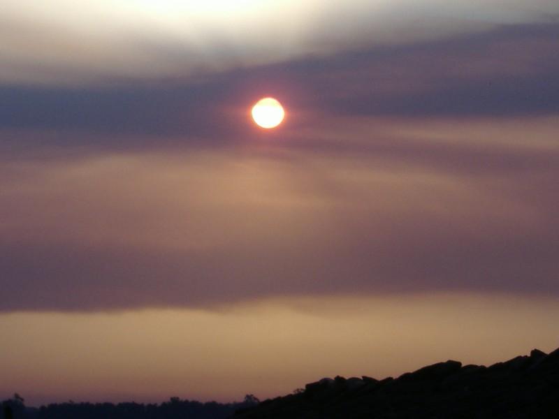 Coucher de soleil sur Arzúa