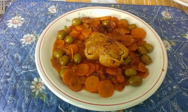 Paupiettes de veau aux carottes avec des olives et citron confit2