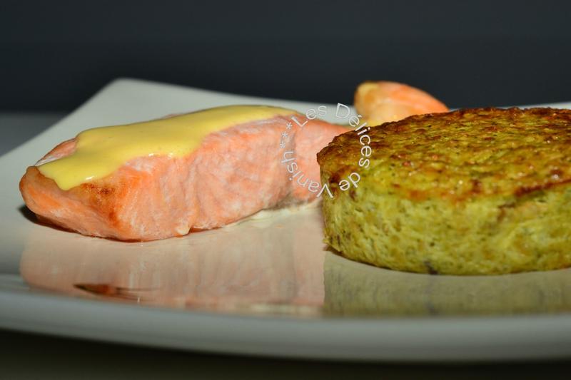 saumon sauce hollandaise, flan brocolis, quinoa boulgour