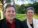 Alain Goze et Martine Thibert lors des élections cantonales de 2011