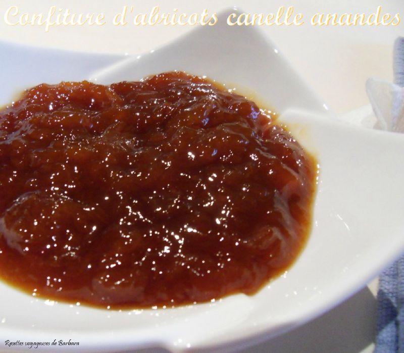 confiture d'abricots canaelle amandes1