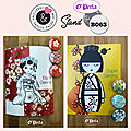 Badges geishas intemporels....
