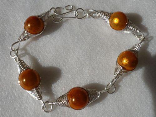 bracelet orange wire