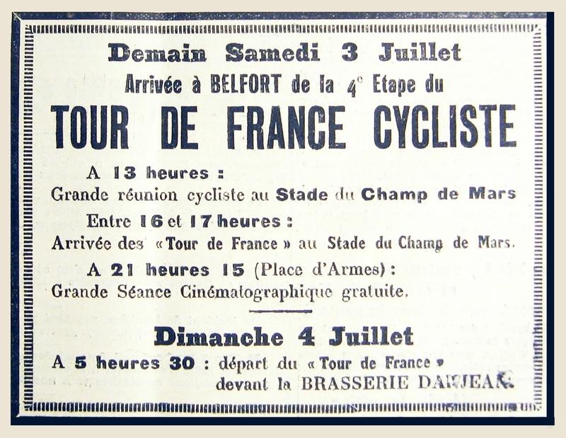 1937 07 02 Tour de France La Frontière