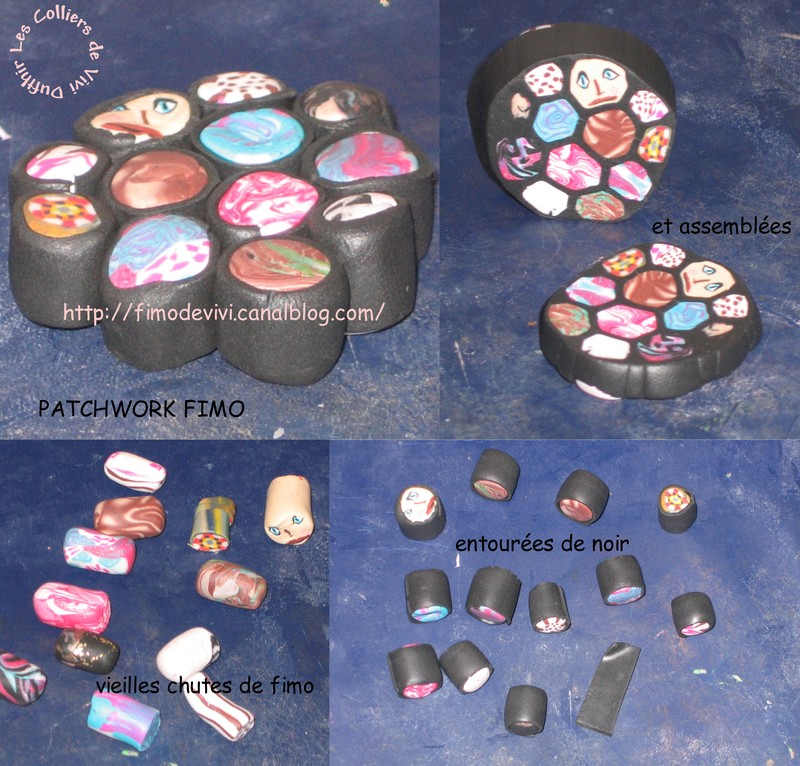petit tuto de patchwork fimo bijoux fimo de vivi. Black Bedroom Furniture Sets. Home Design Ideas
