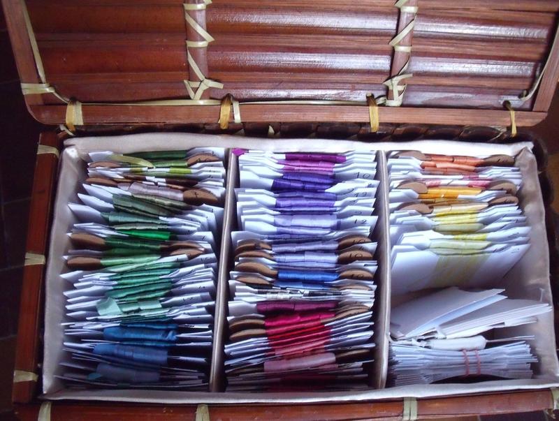 Rubans de soie Chinois colorés