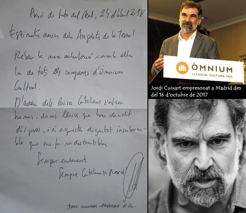 carta Jordi Cuixart amb fotos