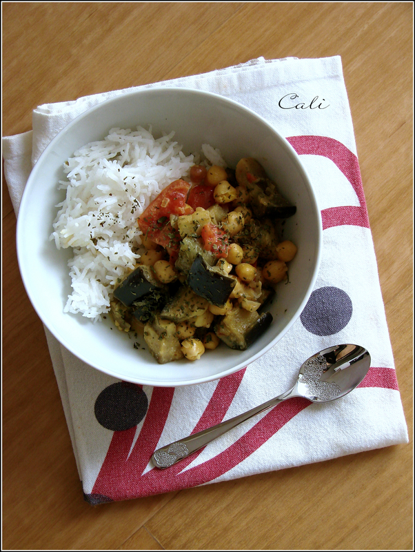 Curry d'Aubergine & Pois Chiches 001