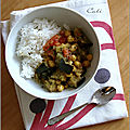 Curry d'aubergine & pois chiches