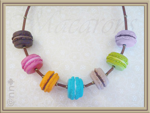 Collier macarons multicolore n° 4 (N)
