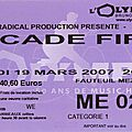 Arcade fire - lundi 19 mars 2007 - olympia (paris)