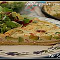 Quiche poulet-courgettes