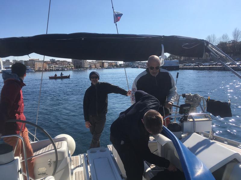 Zadar, départ du port, 8 mars 2020