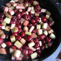 Crumble rhubarbe-cerises