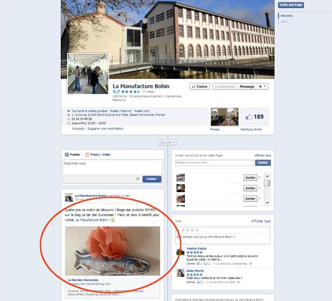 46 Bohin parle du Bal des Oursonnes sur Facebook