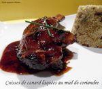 cuisses de canard laqué au miel de coriandre1