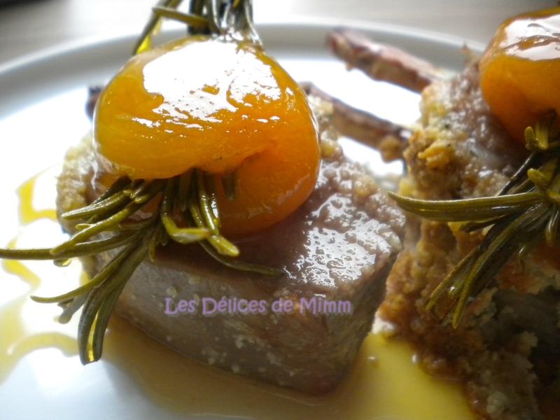 Carré d'agneau aux amandes et au caramel d'abricot 3