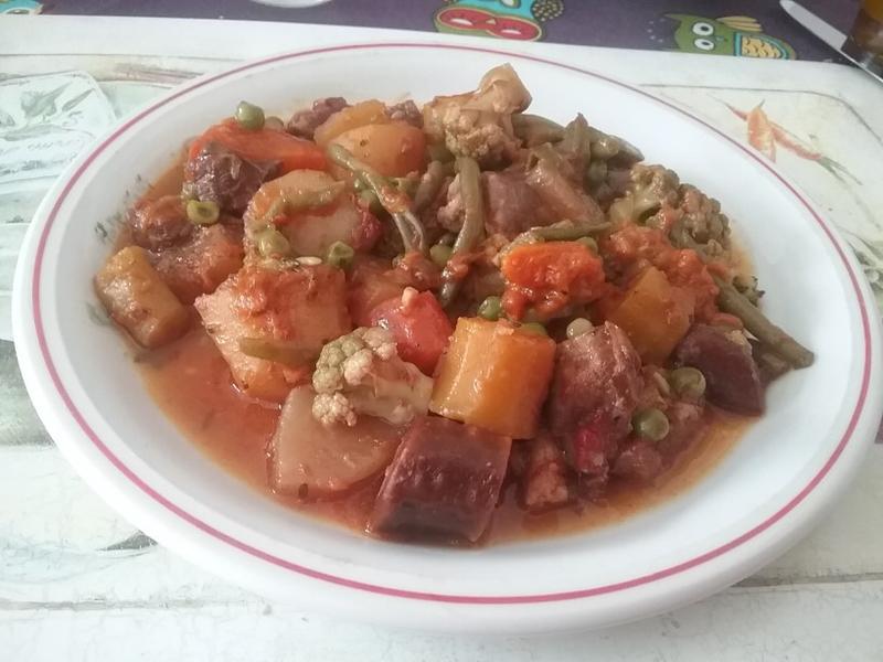 Sauté de boeuf et macédoine de légumes variés1
