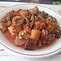 Sauté de boeuf et macédoine de légumes variés