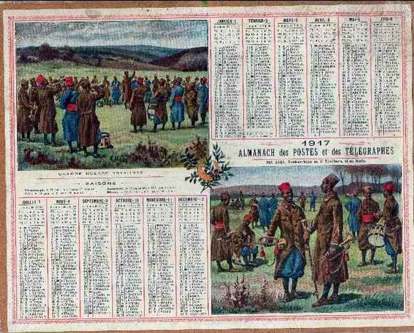 Almanach Poste 1917-1