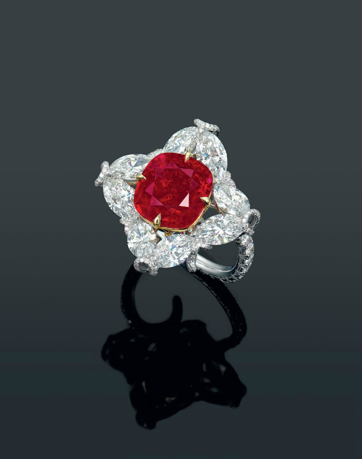 An Important 5 64 Carats Burma Pigeon Blood Red Ruby And