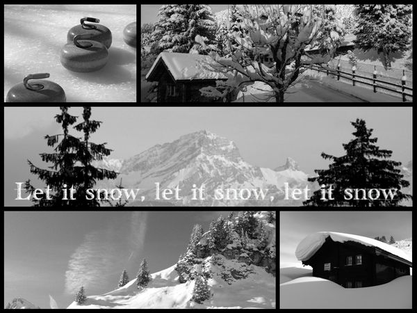 Collage let it snow