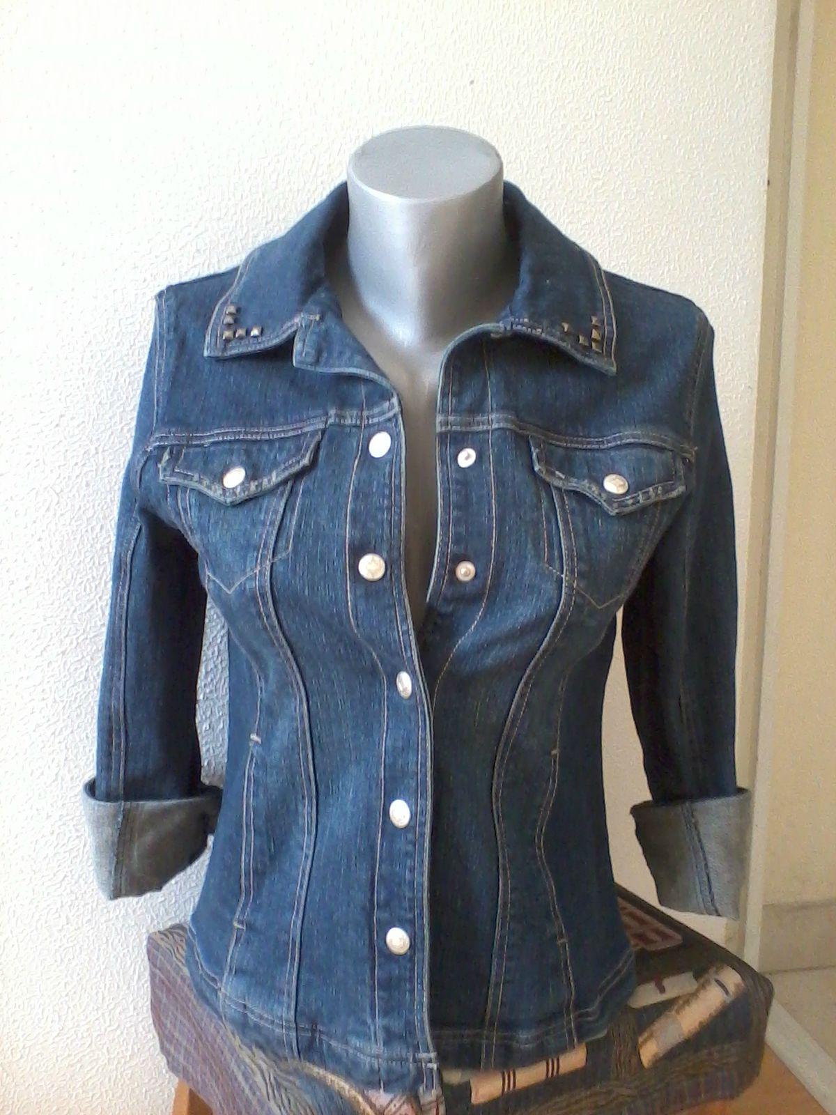 Neuf Veste Tshr1wq Jeans Zara En Le Dressing Cloutée Vide 6gYfwqIIx