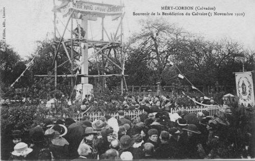 Bénédiction du calvaire le 5 novembre 1922