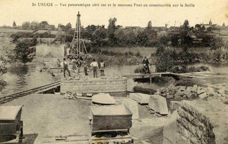 Construction du Pont des Varennes