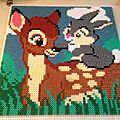Bambi et panpan perles à repasser