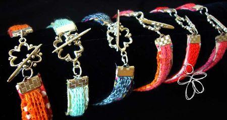 bracelet tissu maille