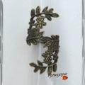 Bague Feuille Toi et Moi Style Rétro-Baroque Métal Couleur Bronze Taille 50_51