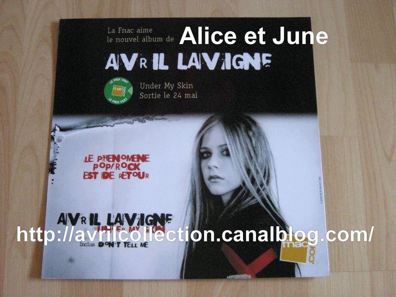 Panneau Promotionnel Under My Skin Fnac (2004) France