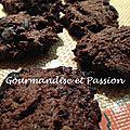 Cookies tout chocolat à la purée d'amandes