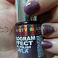 Layla - misty blush - hologram effect nail polish