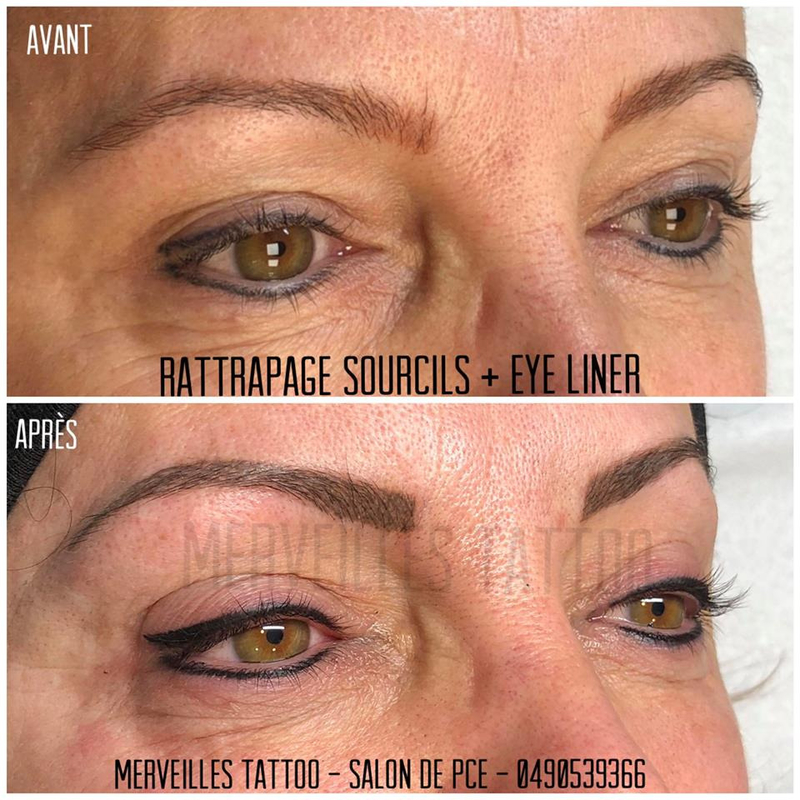 maquillage permanent, eye liner tatouage, tatouage sourcils, rattrapage sourcils oranges