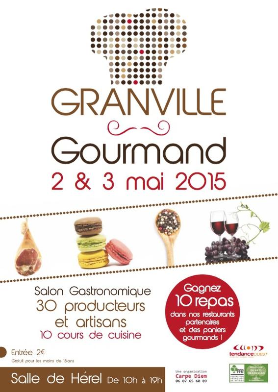 Granville Gourmand mai 2015 salon affiche