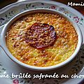 Crème brûlée safranée au chorizo