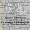 Technique du powertex et de la stone art