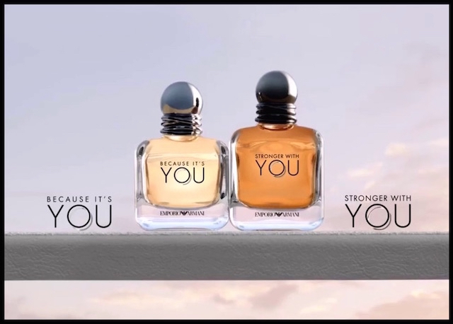 emporio armani because it's you stronger with you
