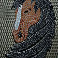 cheval mosaique