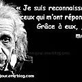 Merci ! citation d'albert einstein.
