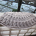Embossed leaves poncho...