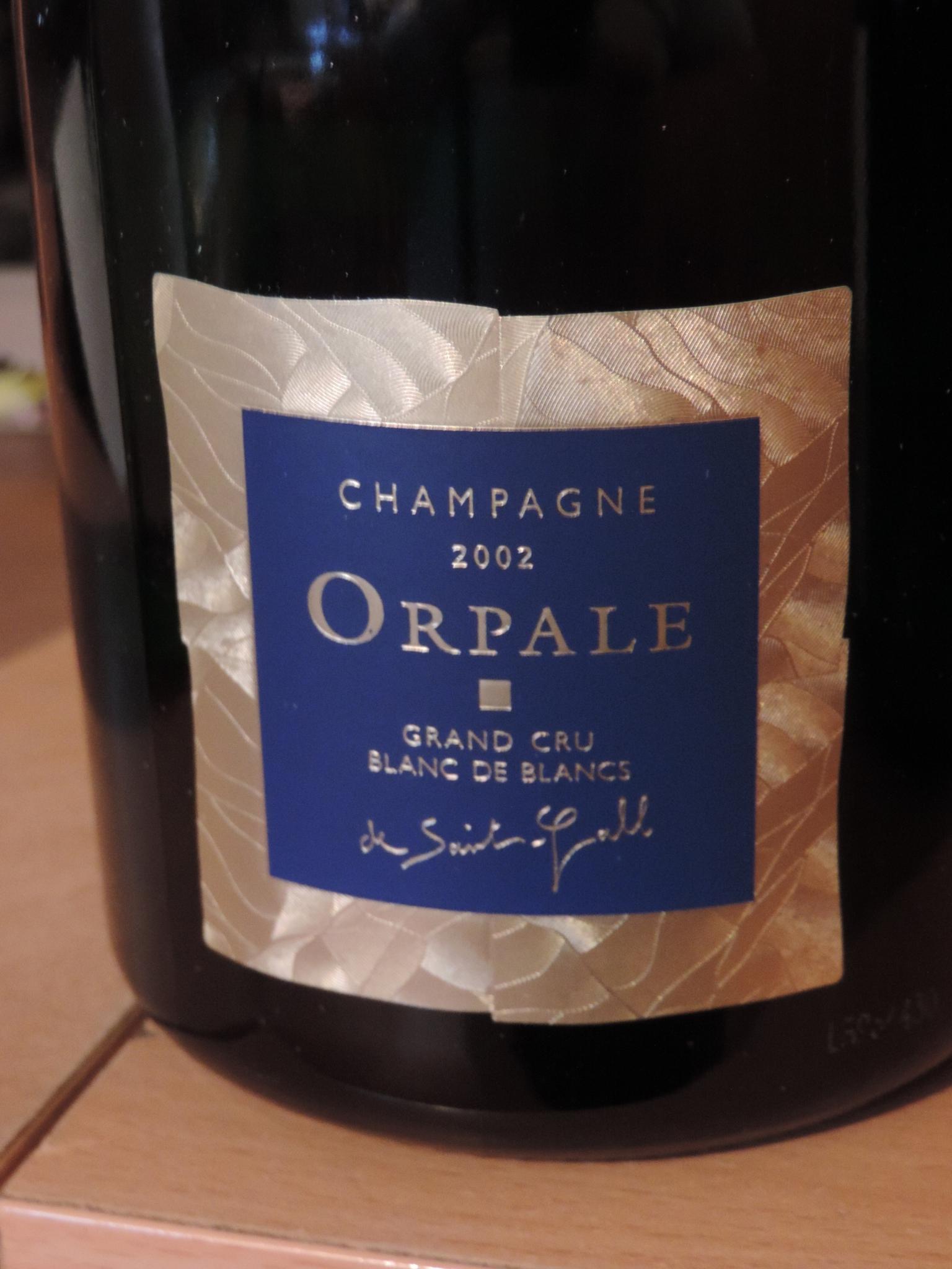 "champagne saint-gall 2002 grand cru blanc de blancs ""cuvée orpale"""