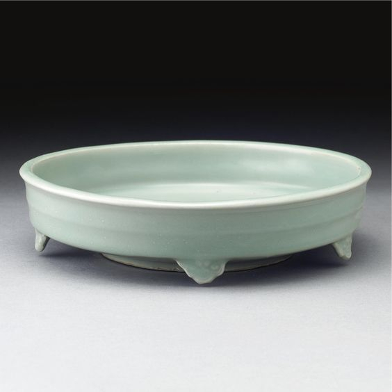 An unusual 'Longquan' celadon shallow brushwasher, Southern Song dynasty (1127-1279)