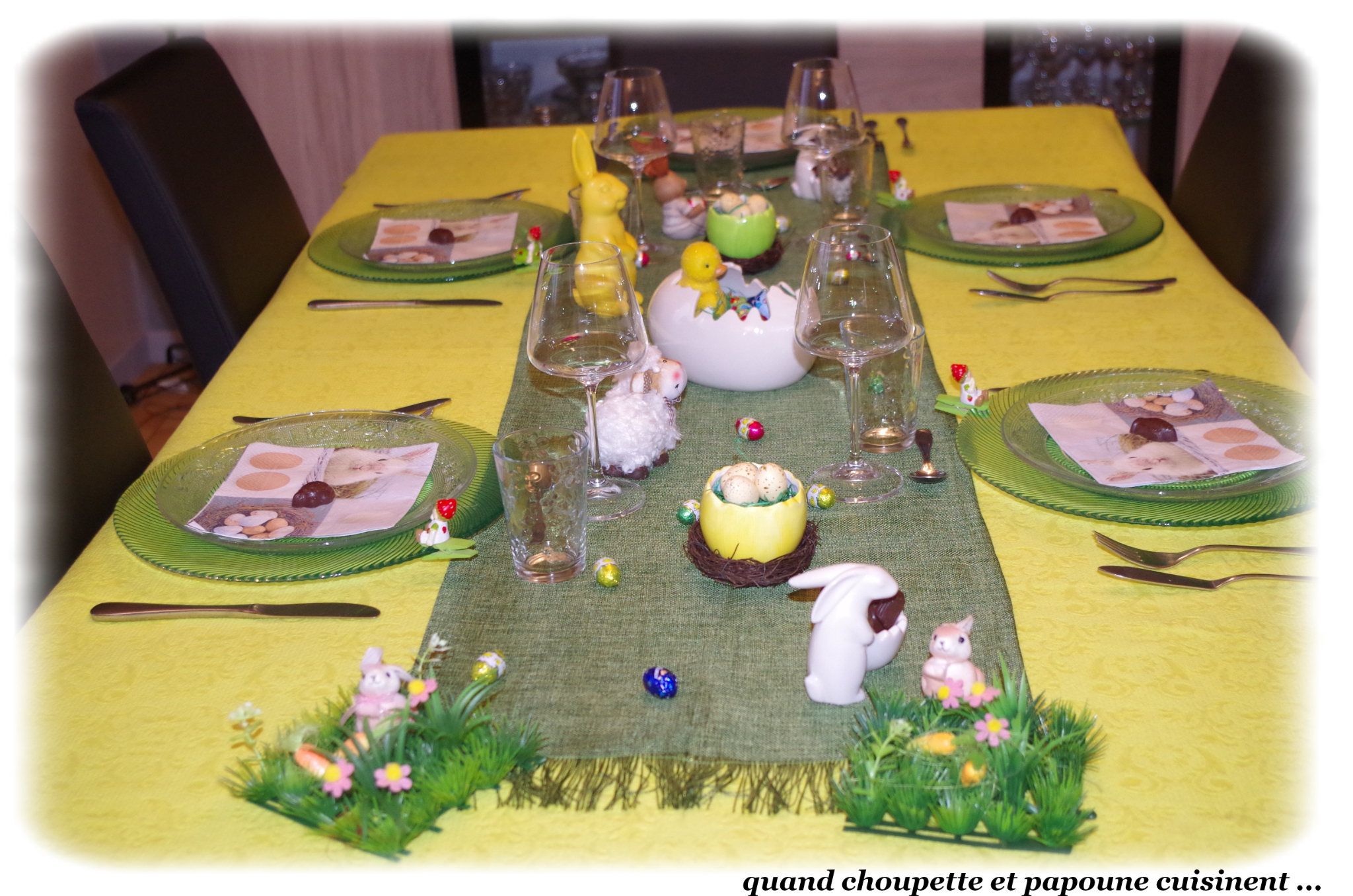 MA DECORATION DE TABLE DE PÂQUES 2019