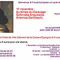 Samedi 17 novembre : première conférence sur les femmes peintres. bienvenue à frouard