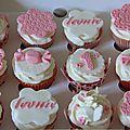 Cupcakes pour feter les 1 an de la petite leonie